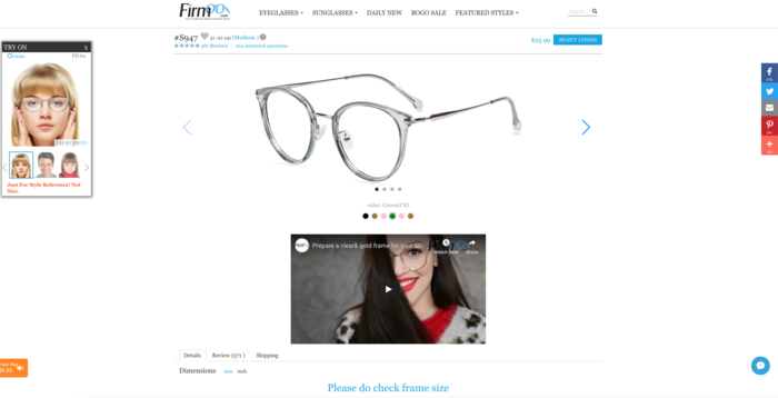 4422d3b9300 Am I able to try on Firmoo.com glasses before I buy them  — Knoji